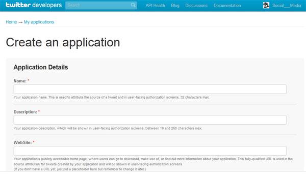 Creare applicazione Twitter